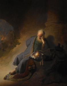 Jeremiah Lamenting the Destruction of Jerusalem (Rembrandt)